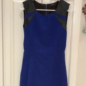 Tahari Leather Shift Dress